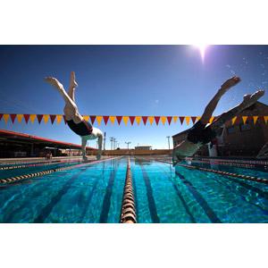 フリー写真, 人物, 男性, スポーツ, ウォータースポーツ, 競泳, プール, 競泳プール, 飛び込む(ダイブ)