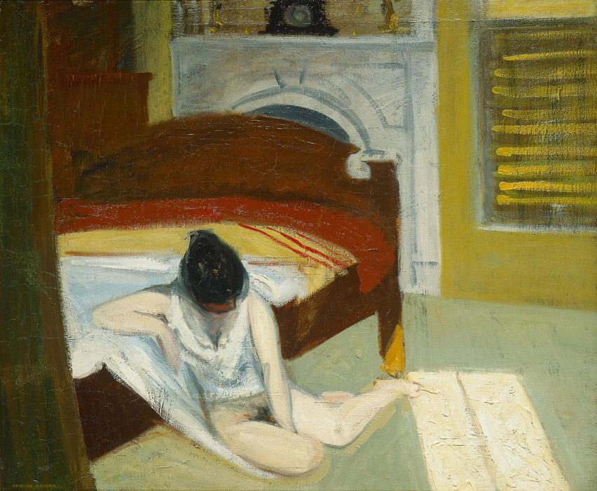 フリー絵画 エドワード・ホッパー作「夏の室内」