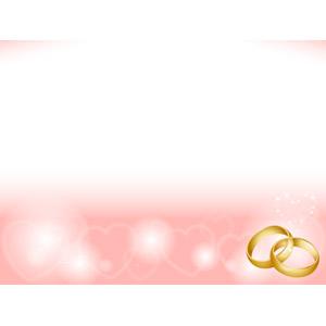 フリーイラスト, ベクター画像, AI, 背景, 結婚式(ブライダル), 結婚指輪, ハート, 6月, ジューンブライド