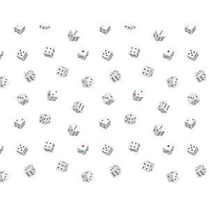 フリーイラスト, ベクター画像, AI, 背景, サイコロ, 玩具(おもちゃ), ゲーム, 賭博(ギャンブル), 白色(ホワイト)