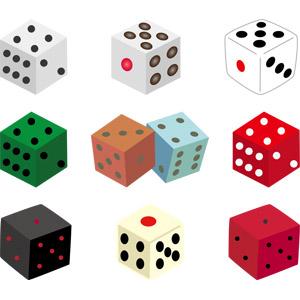 フリーイラスト, ベクター画像, AI, サイコロ, 玩具(おもちゃ), ゲーム, 賭博(ギャンブル)