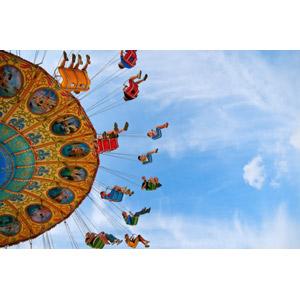 フリー写真, 遊園地(テーマパーク), 遊具, 回転ブランコ
