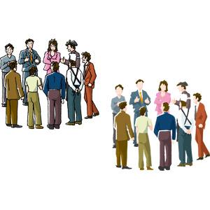 フリーイラスト, ベクター画像, AI, 人物, 集団(グループ), 共同体(コミュニティ), 会議(ミーティング), 職業, 自治会(町内会), 商工会