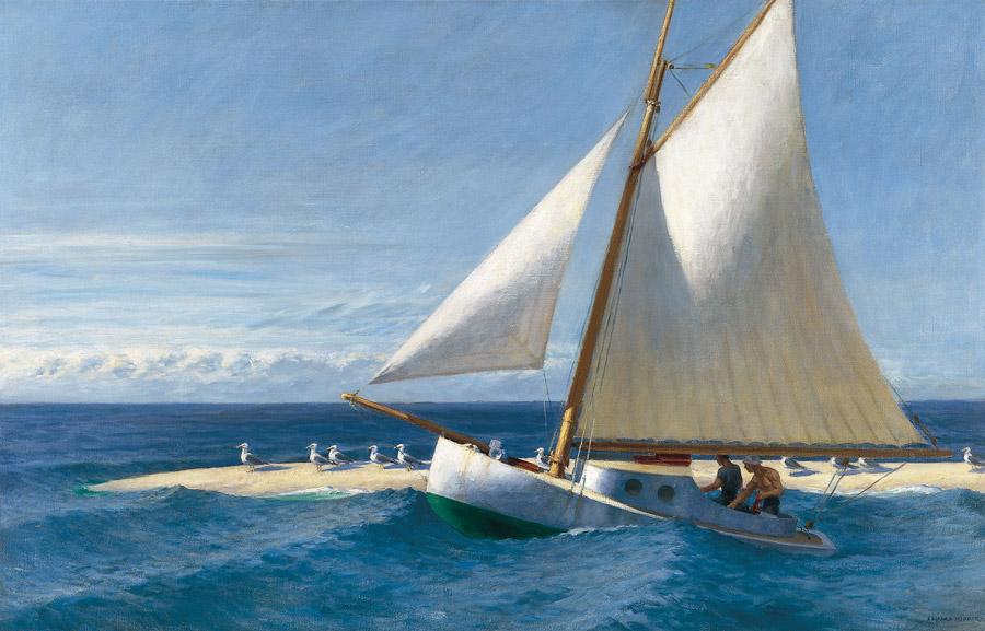フリー絵画 エドワード・ホッパー作「ウエルフィートのマーサ・マッキーン号」