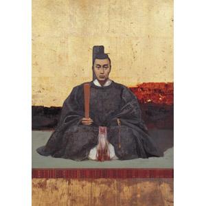 フリー絵画, 川村清雄, 肖像画, 男性, アジアの男性, 日本人, 将軍, 徳川慶喜, 座る(床), 和服, 束帯, 笏