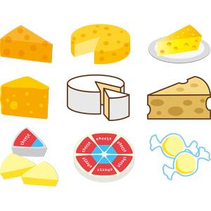 フリーイラスト, ベクター画像, AI, 食べ物(食料), 乳製品, チーズ, のし紙