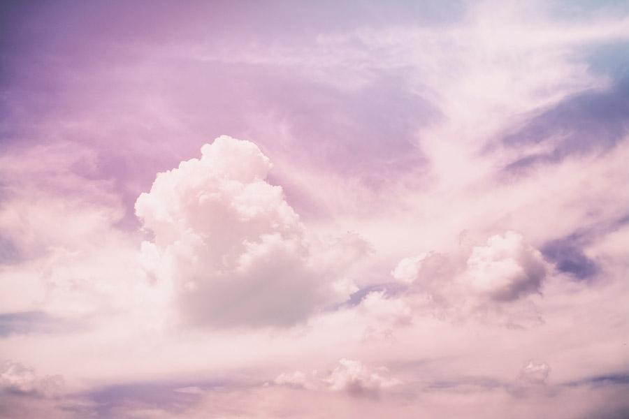 フリー写真 空の雲の風景