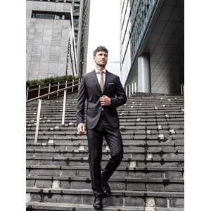 フリー写真, 人物, 男性, 外国人男性, ビジネス, 仕事, 職業, ビジネスマン, メンズスーツ, 階段