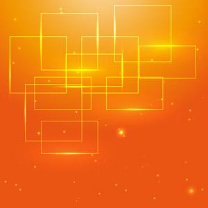 フリーイラスト, ベクター画像, AI, 背景, 抽象イメージ, 四角形(スクエア), オレンジ色