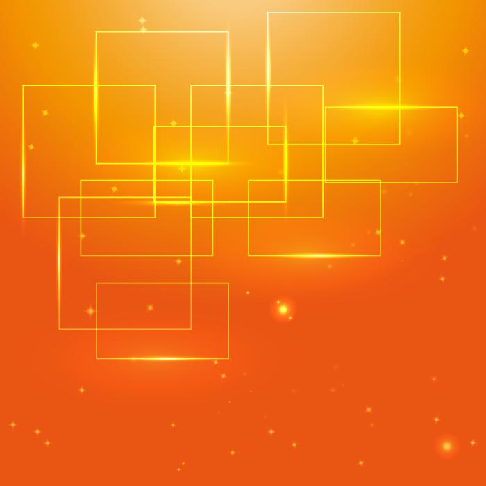 フリーイラスト オレンジ色の四角形の背景
