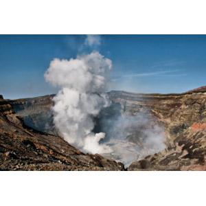 フリー写真, 風景, 自然, 火山, 煙(スモーク), 日本の風景, 阿蘇山, 熊本県
