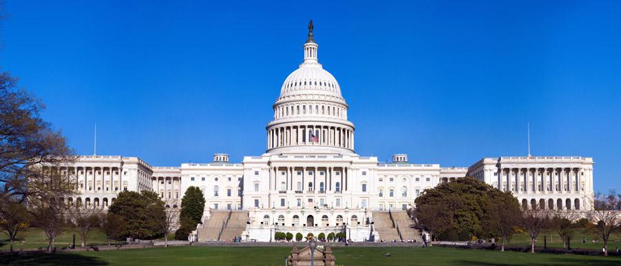 フリー写真 アメリカ合衆国議会議事堂の風景