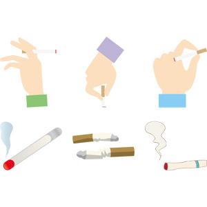 フリーイラスト, ベクター画像, AI, 人体, 手, 煙草(タバコ)