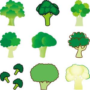 フリーイラスト, ベクター画像, AI, 食べ物(食料), 野菜, ブロッコリー