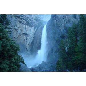 フリー写真, 風景, 自然, 滝, 岩山, ヨセミテ滝, ヨセミテ国立公園, カリフォルニア州, アメリカの風景
