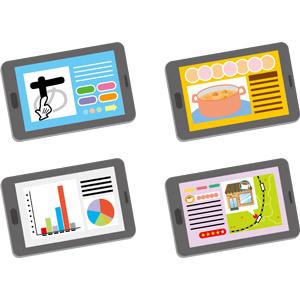 フリーイラスト, ベクター画像, AI, 家電機器, パソコン(PC), タブレットPC, 教育, 勉強(学習), ビジネス, グラフ, データ, 料理, レシピ, 地図, 飲食店, 喫茶店(カフェ), インターネット, ネットサーフィン