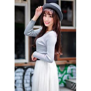フリー写真, 人物, 女性, アジア人女性, 帽子, ポーラー帽