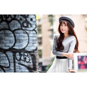 フリー写真, 人物, 女性, アジア人女性, 帽子, ボーラー帽