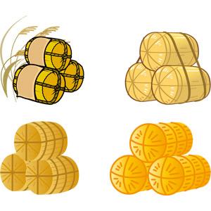 フリーイラスト, ベクター画像, AI, 米俵, 食べ物(食料), お米, 稲穂