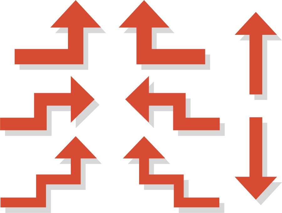 フリーイラスト 8種類の矢印のセット