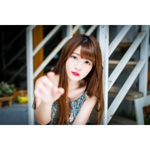 フリー写真, 人物, 女性, アジア人女性, 欣欣(00001), 中国人, 手を伸ばす