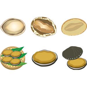 フリーイラスト, ベクター画像, AI, 食べ物(食料), 魚介類, 貝類, 食用貝, アワビ, 動物