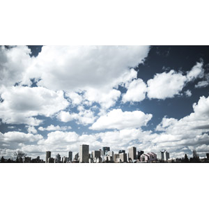 フリー写真, 風景, 建造物, 建築物, 高層ビル, 都市, 街並み(町並み), 空, 雲, カナダの風景