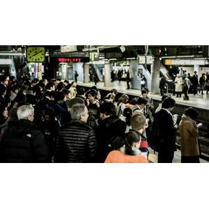 フリー写真, 人物, 人込み(人混み), 人と風景, 鉄道駅, プラットホーム, 日本の風景, 東京都