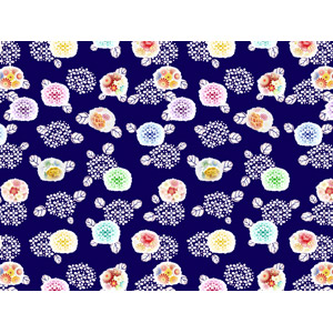 フリーイラスト, ベクター画像, AI, 背景, 和柄, 花柄, 花, 紫陽花(アジサイ), 6月, 梅雨