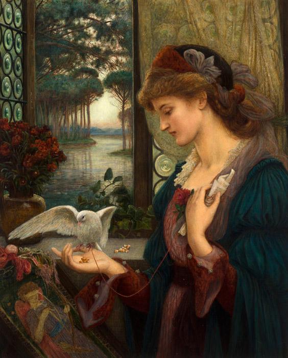 フリー絵画 マリー・スパルタリ・スティルマン作「愛のメッセンジャー」