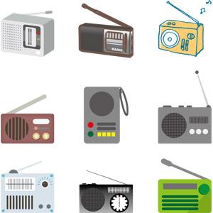 フリーイラスト, ベクター画像, AI, 家電機器, ラジオ, 防災グッズ