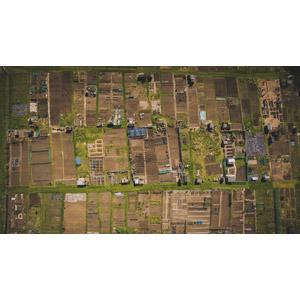 フリー写真, 風景, 航空写真, 畑, イギリスの風景