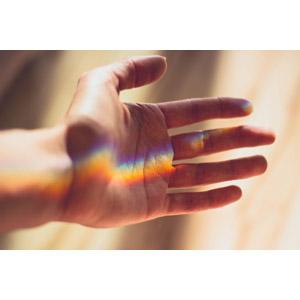 フリー写真, 人体, 手, 虹