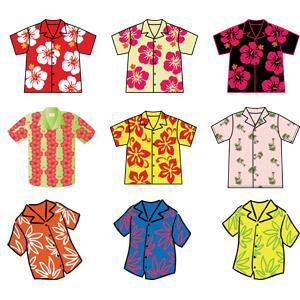 フリーイラスト, ベクター画像, AI, 衣服(衣類), シャツ, アロハシャツ, 南国, リゾート, バケーション, メンズファッション, レディースファッション, ハワイ州
