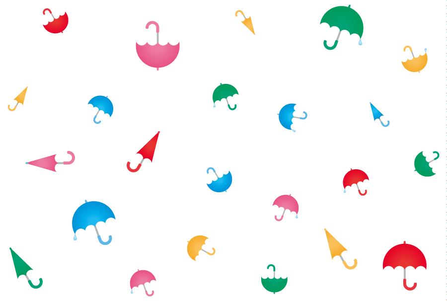 フリーイラスト カラフルな傘の背景
