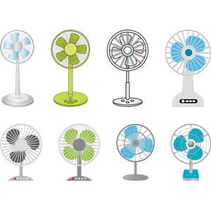フリーイラスト, ベクター画像, AI, 家電機器, 扇風機, 夏
