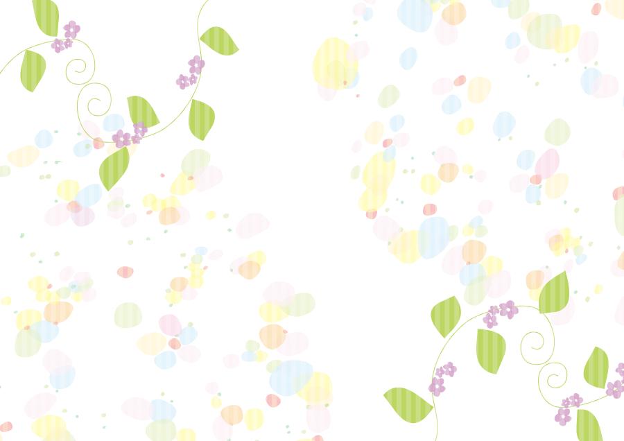 フリーイラスト 紫色の花とカラフルな模様の背景
