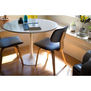 フリー写真, 風景, 部屋, ダイニングテーブル, 椅子(チェア), 観葉植物