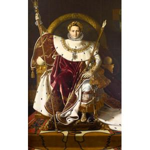 フリー絵画, ドミニク・アングル, 肖像画, 男性, 外国人男性, フランス人, ナポレオン・ボナパルト, 政治家, 座る(椅子), 王座(玉座)
