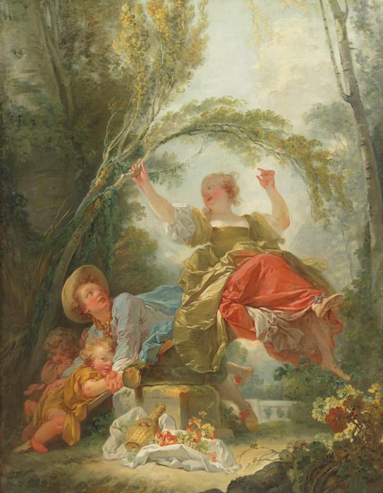 フリー絵画 ジャン・オノレ・フラゴナール作「シーソー」