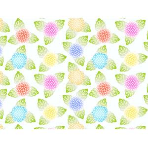 フリーイラスト, ベクター画像, AI, 背景, 植物, 花, 紫陽花(アジサイ), 6月, 梅雨, カラフル