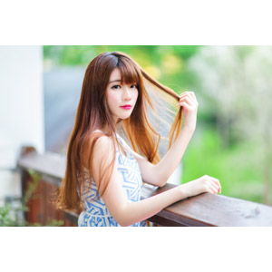 フリー写真, 人物, 女性, アジア人女性, 欣欣(00001), 中国人, 髪の毛を触る