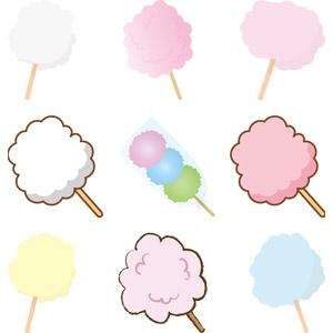 フリーイラスト, ベクター画像, AI, 食べ物(食料), 菓子, 綿菓子(綿飴), お祭り, 縁日