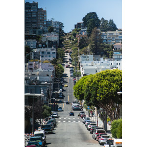 フリー写真, 風景, 建造物, 建築物, 都市, 道路, ロンバート・ストリート, アメリカの風景, サンフランシスコ