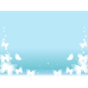 フリーイラスト, ベクター画像, AI, 背景, 動物, 昆虫, 蝶(チョウ), 青色(ブルー)