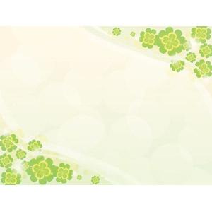 フリーイラスト, ベクター画像, AI, 背景, フレーム, 対角フレーム, 植物, クローバー(シロツメクサ), 四つ葉のクローバー