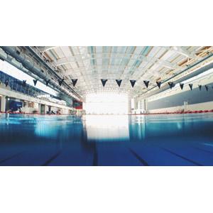 フリー写真, 風景, 建造物, 建築物, プール, 競泳プール, 競泳