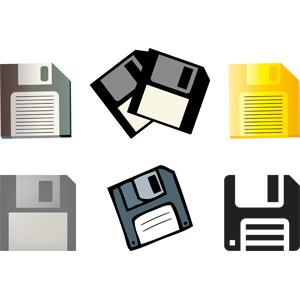 フリーイラスト, ベクター画像, AI, 補助記憶装置, ディスクメディア, フロッピーディスク