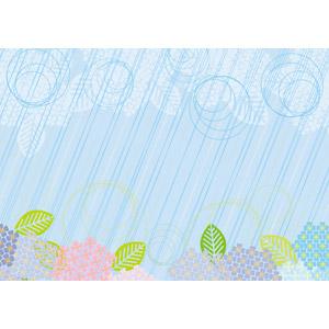 フリーイラスト, ベクター画像, AI, 背景, 梅雨, 6月, 雨, 植物, 花, 紫陽花(アジサイ)