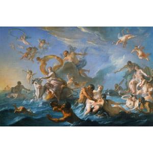 フリー絵画, ノエル=ニコラ・コワペル, 物語画, 神話, ギリシア神話, エウロペ, ゼウス, 誘拐, 海, エロス